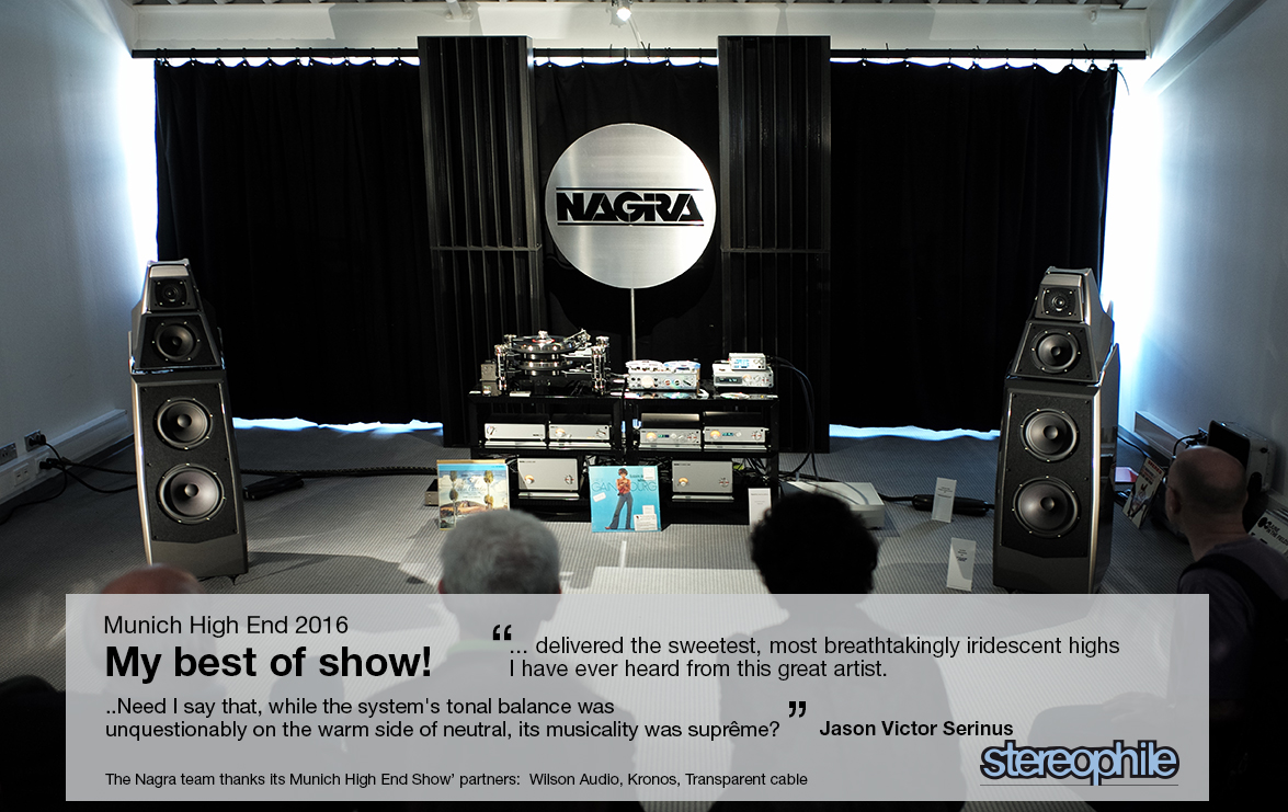 HIGH END 2016 – BEST SOUND OF THE SHOW | Nagra