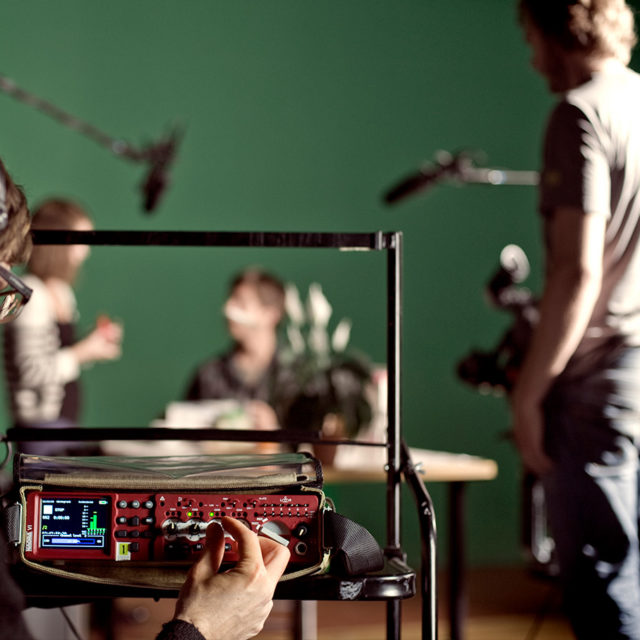 Nagra performance VI recorder recording school sound take