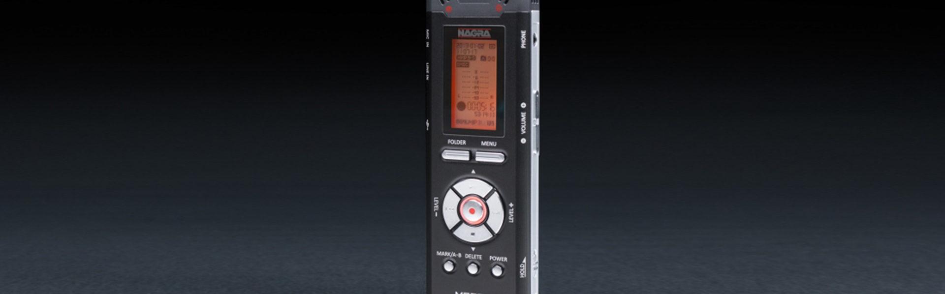Nagra Mezzo miniature recorder handheld digital front phone rec mic