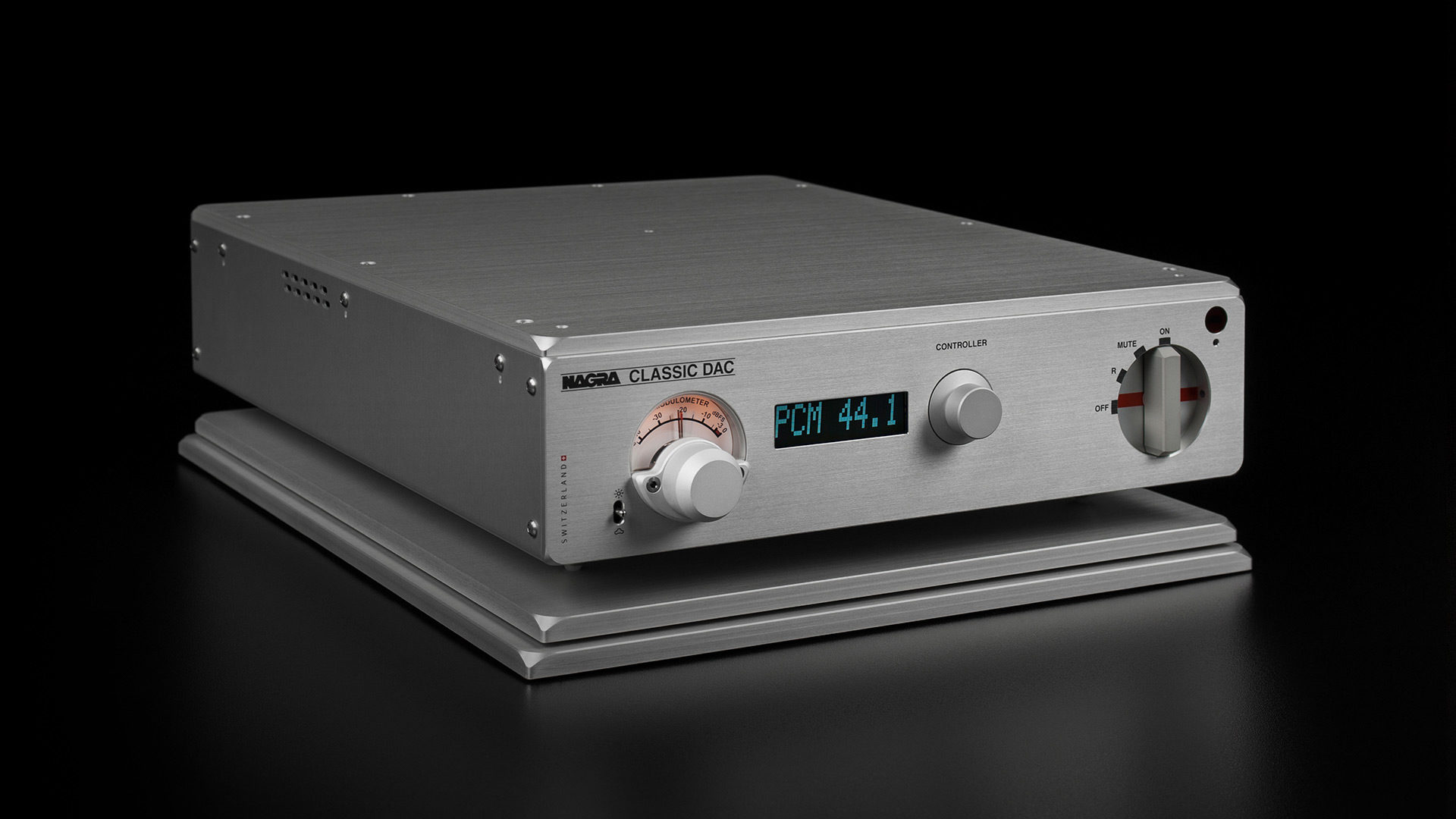 NAGRA CLASSIC DAC convertidor digital a analógico modulómetro negro