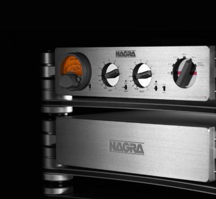HD PREAMP modulómetro peclette Nagra HD PSU frontal oscuro