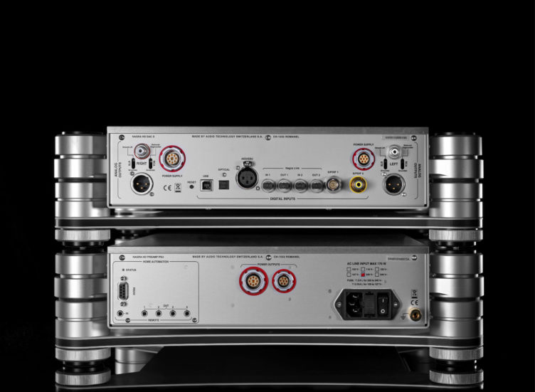 HD DAC X Nagra HD PSU back