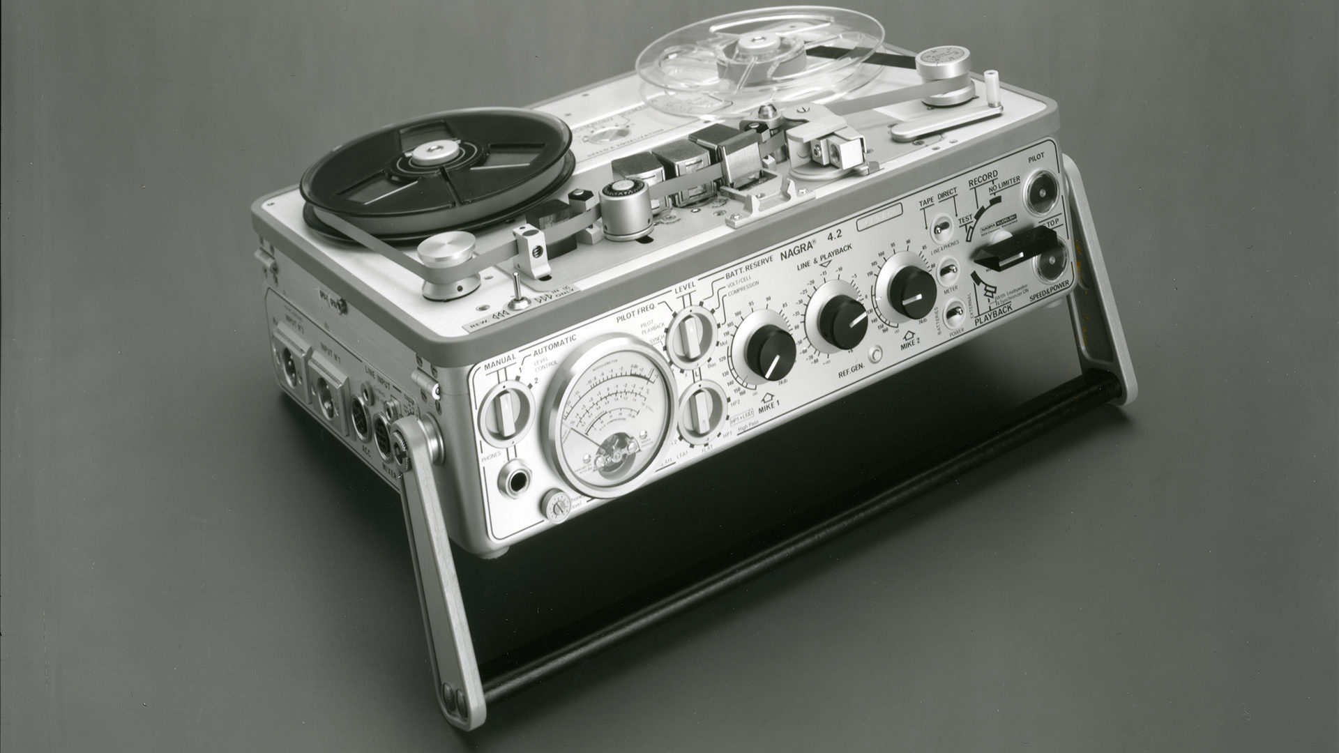 Nagra 4.2 portable mono full track analog audio tape recorder radio cinema television
