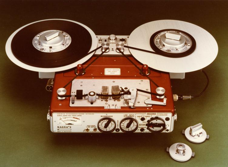 1976 NAGRA E-Economy portable mono full track analog audio tape recorder radio reporters NAB CCIR