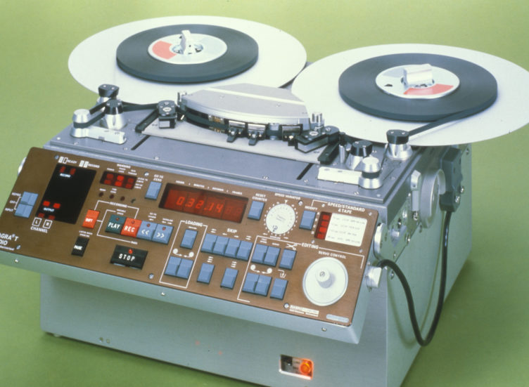 1981 NAGRA TA Two 2 track analog transportable recorder audio studio recording trolley mounted