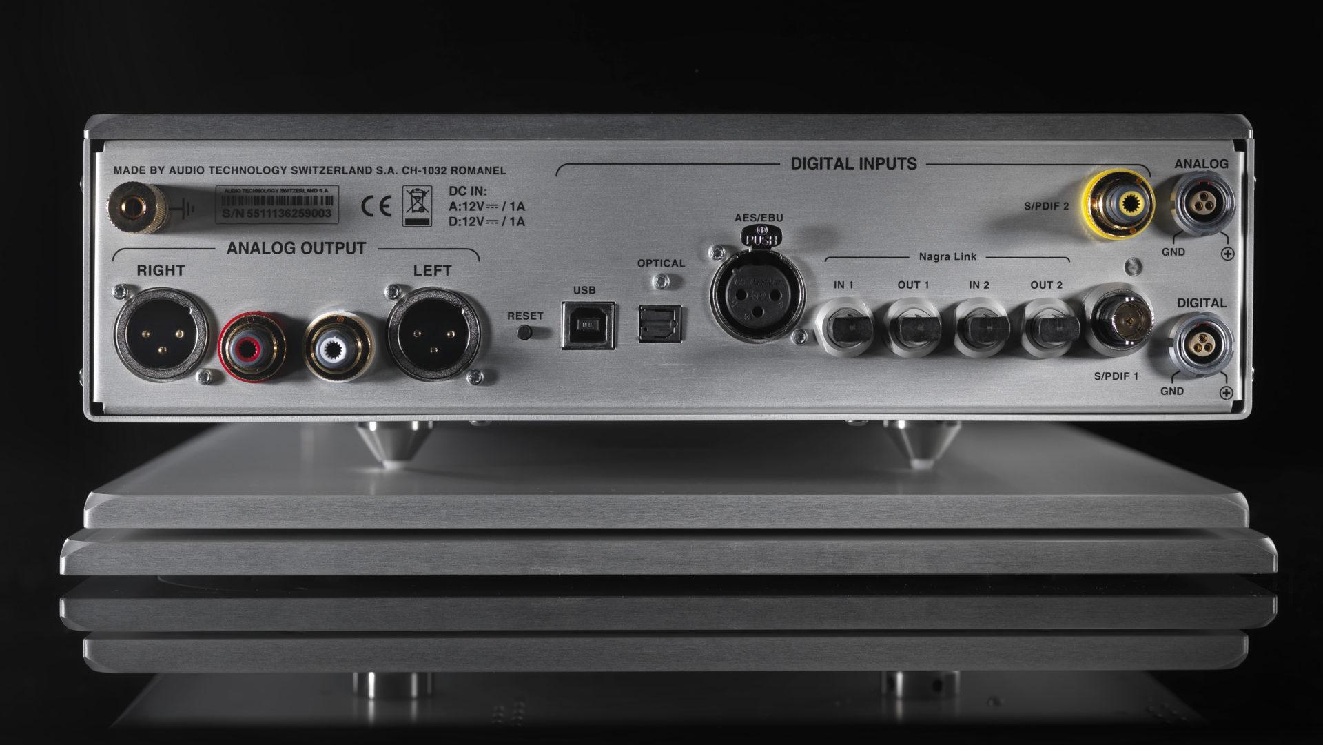 Nagra TUBE DAC digital to analog converter high end top best back inputs optical aes ebu s/pdifvfs