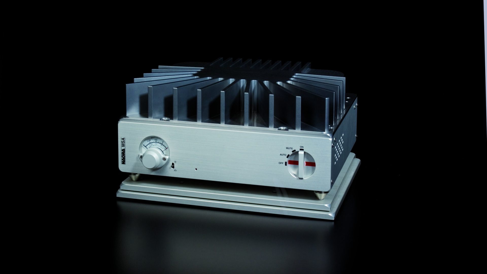 MSA mosfet stereo amplifier black front