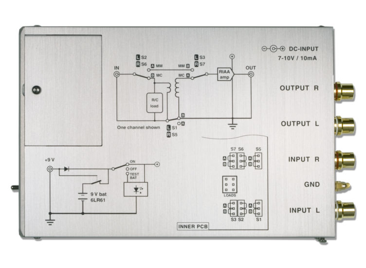 BPS phono stage preamplifier top